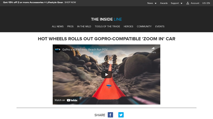 Zoom In by Hot Wheels Landing Page