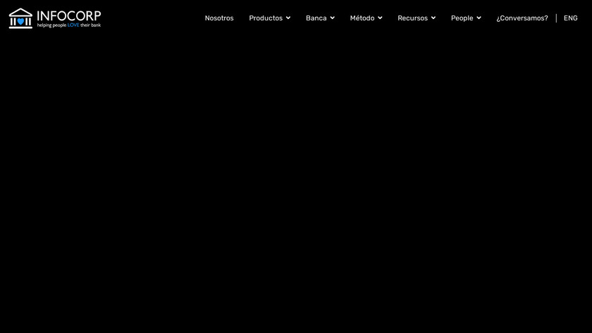 Infocorp Banking Platform Landing Page