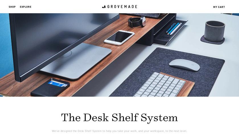 The Grovemade Desk Shelf System Landing Page