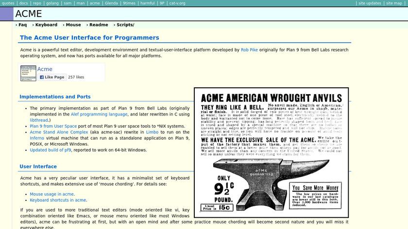 acme Landing Page