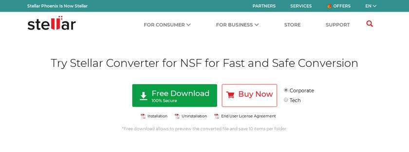Stellar Converter for NSF Pricing