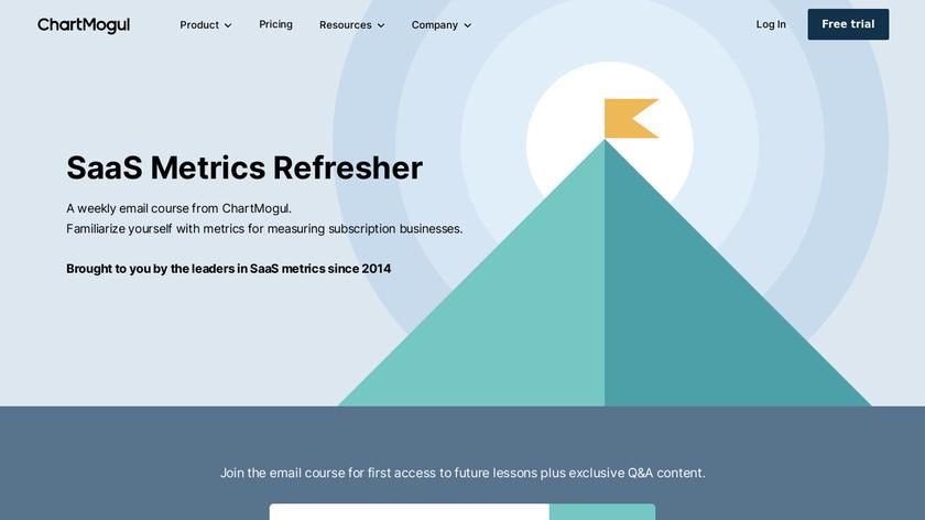 SaaS Metrics Refresher from ChartMogul Landing Page