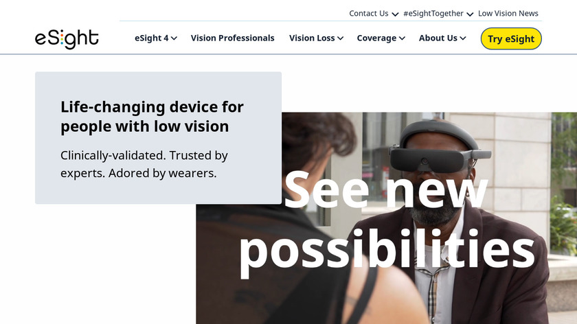 eSight Landing Page