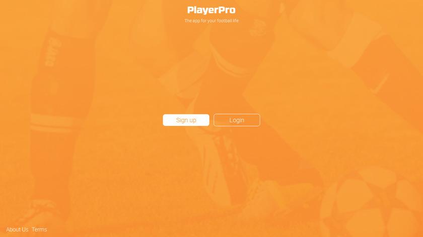PlayerPro Soccer Landing Page