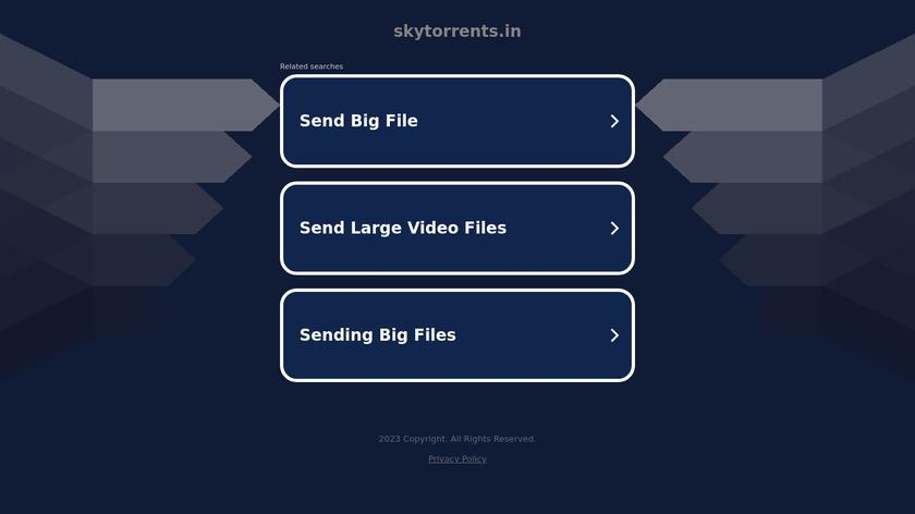 Sky torrents Landing Page