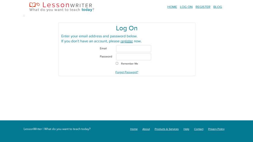 LessonWriter Landing Page