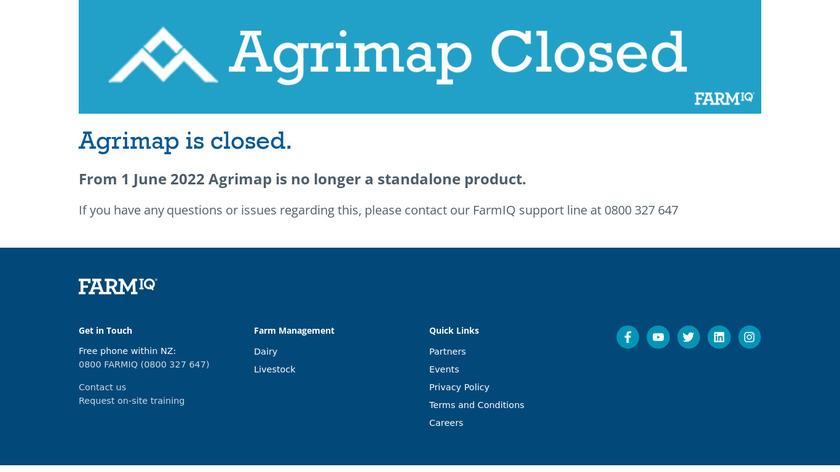 Agrimap Landing Page