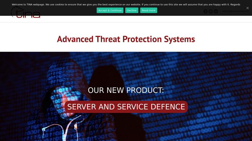 TINA Security Landing Page