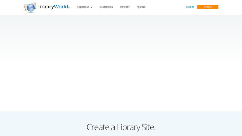 LibraryWorld Landing Page