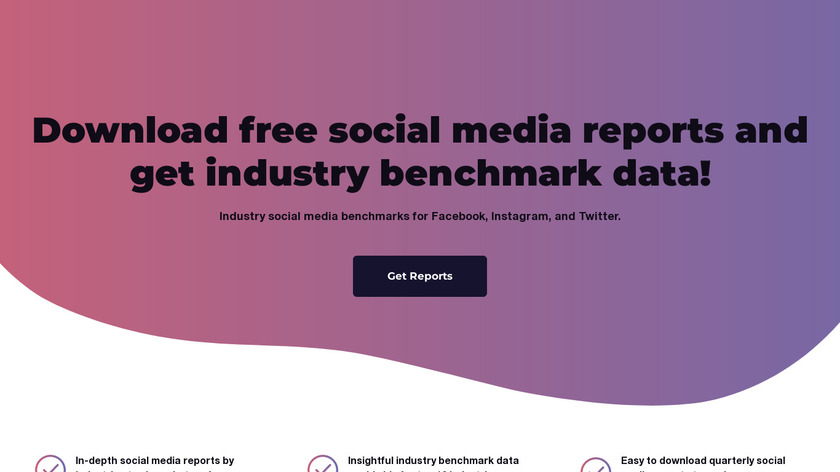 Social media benchmarks by Socialinsider Landing Page