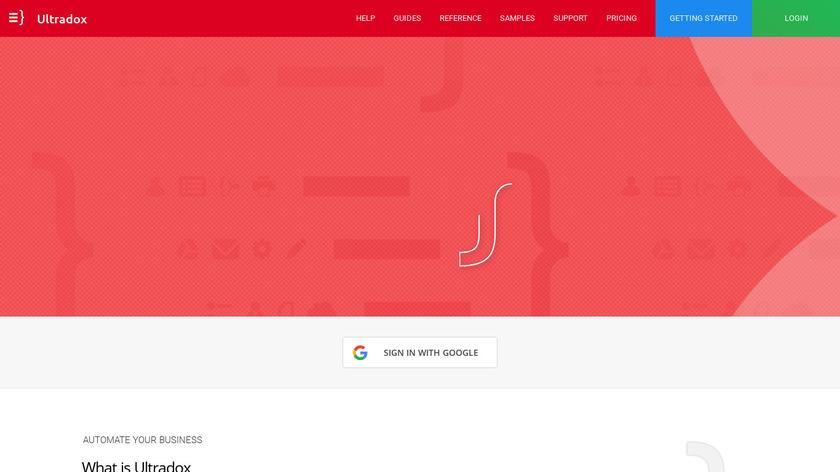 Ultradox Landing Page