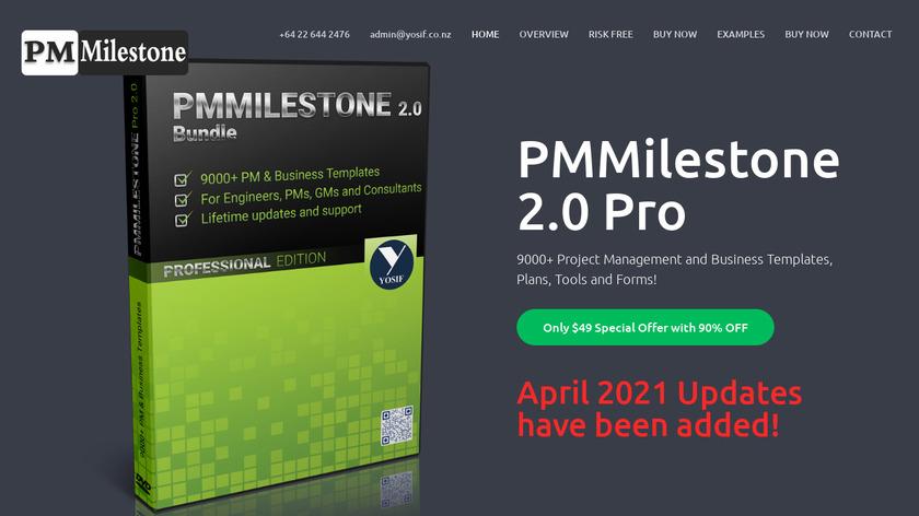 PM Milestone Landing Page