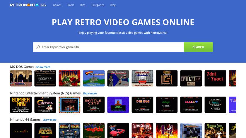 Roms Mania Landing Page