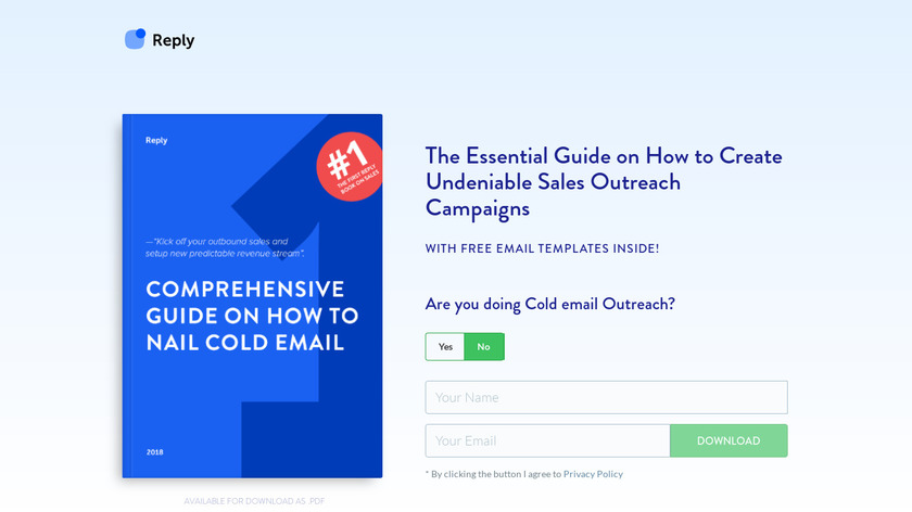 How to Nail Cold Email Landing Page
