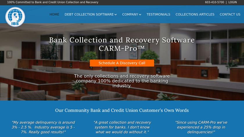 CARM-Pro Landing Page