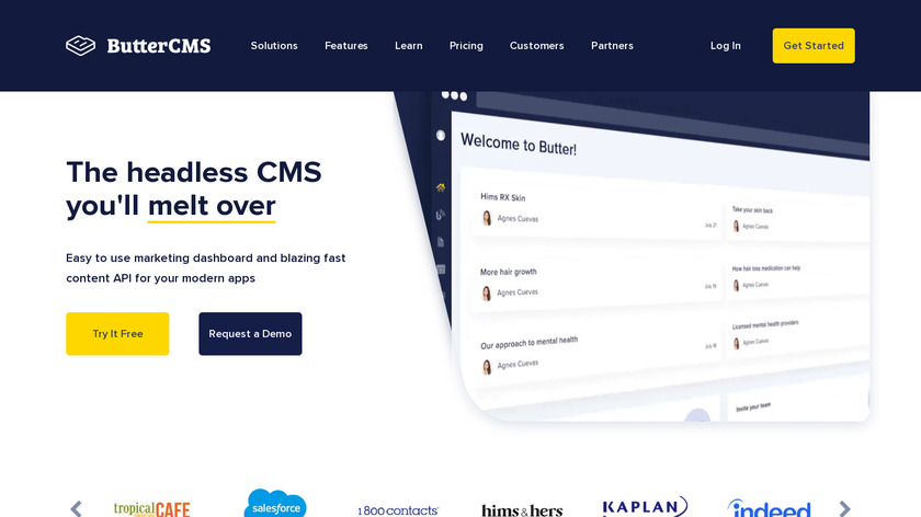 Butter CMS Landing Page