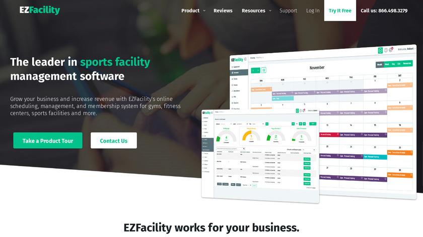 EZFacility Landing Page