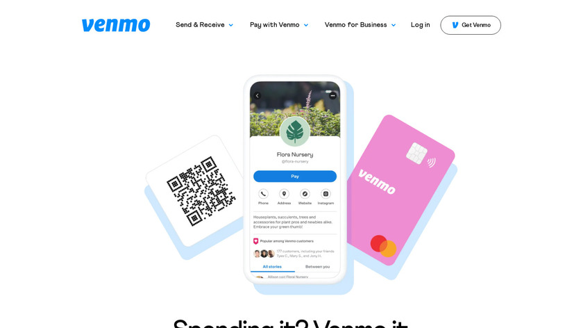 Pay in apps with Venmo Landing Page