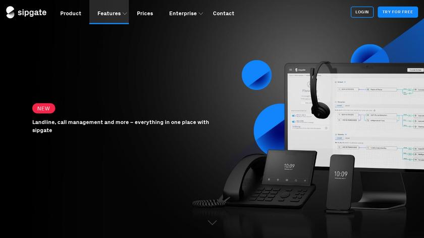 sipgate team Landing Page