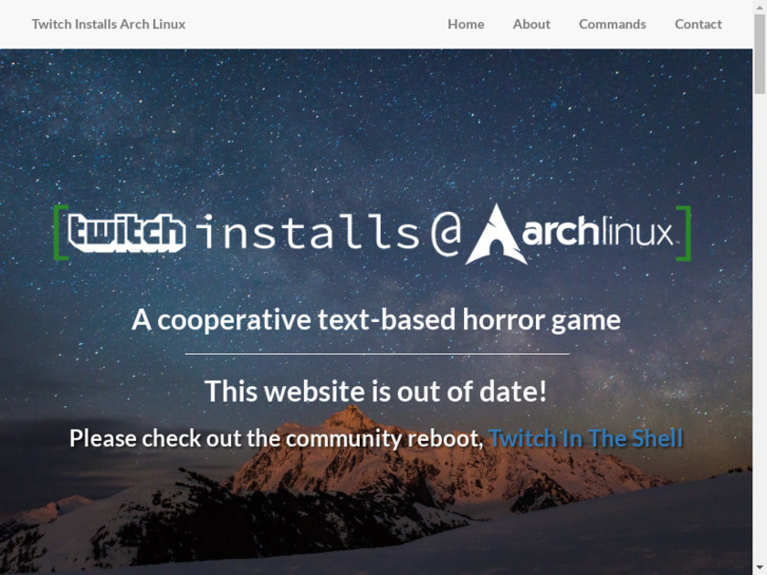 Twitch Installs Arch Linux Landing Page