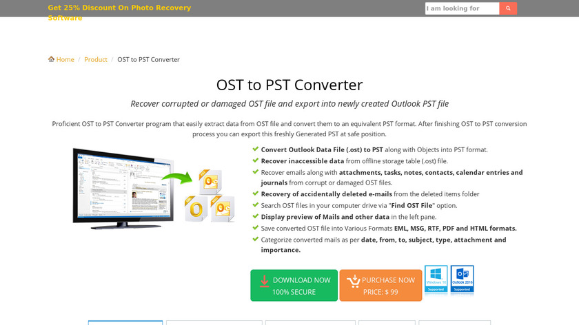 IbidInfo OST to PST Converter Landing Page