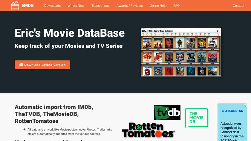 EMDB - Eric's Movie Database Landing Page