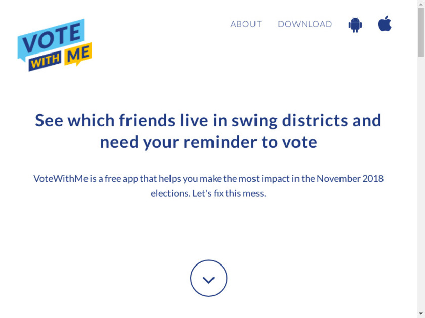 VoteWithMe Landing Page