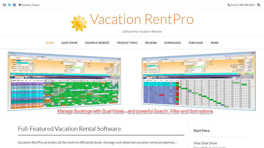 Vacation RentPro Landing Page