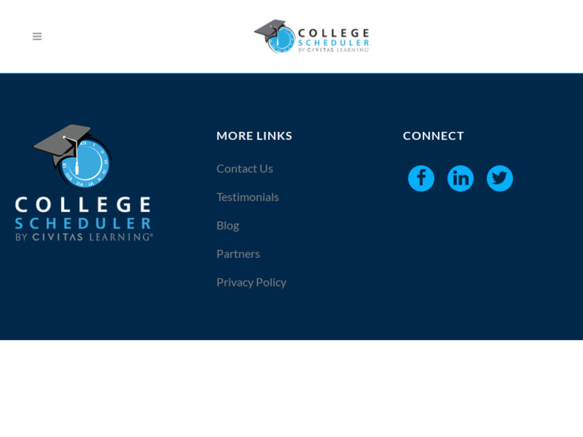 College Scheduler Landing Page