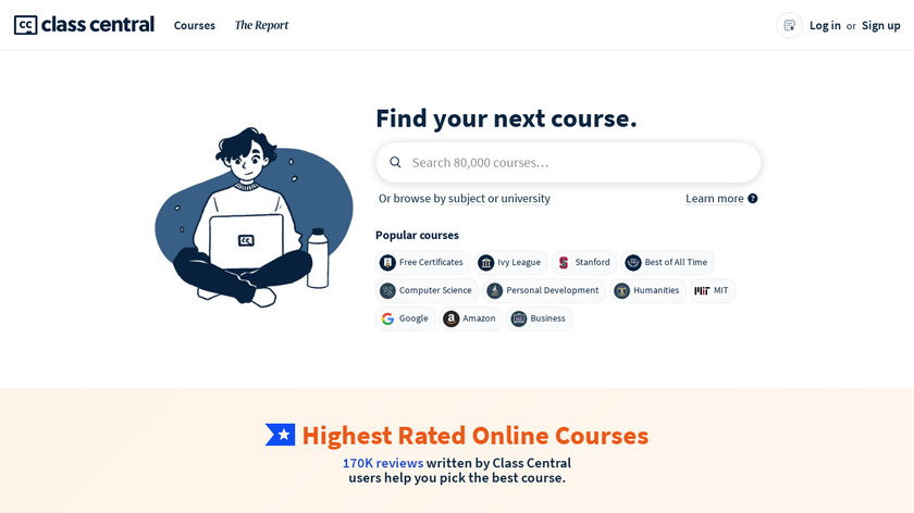 Class Central Landing Page
