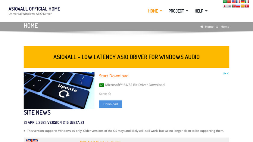 ASIO4ALL Landing Page