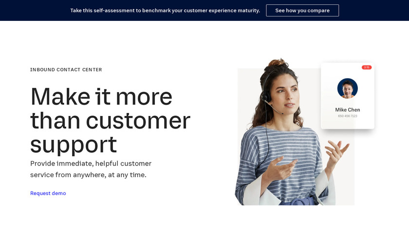 RingCentral Contact Center Landing Page