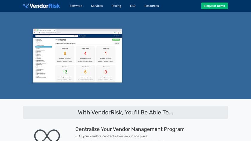 VendorRisk Landing Page
