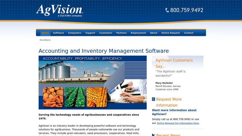 AgVision Landing Page