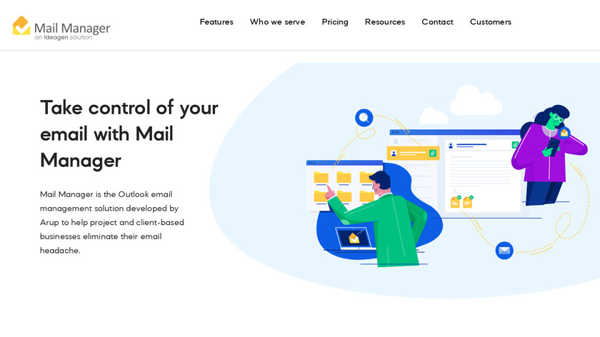 28Hands Mail Manager Landing Page