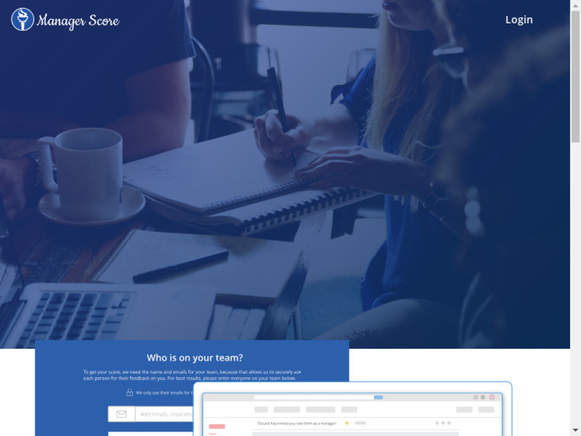 Manager Score Landing Page