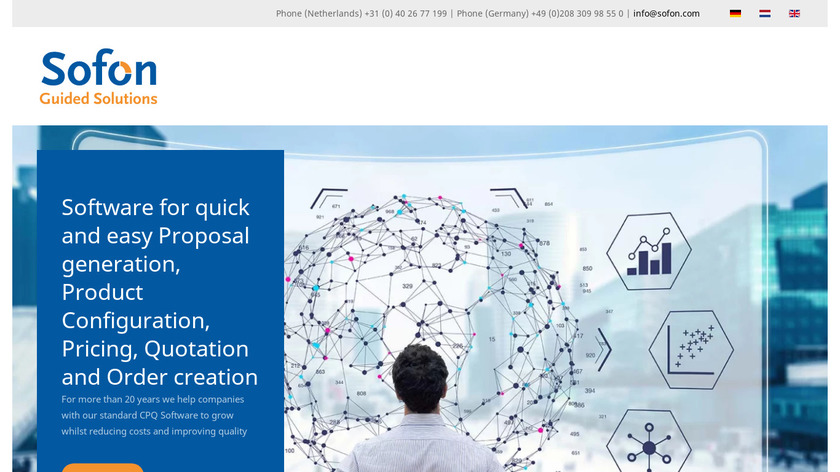 Sofon Guided Solutions Landing Page