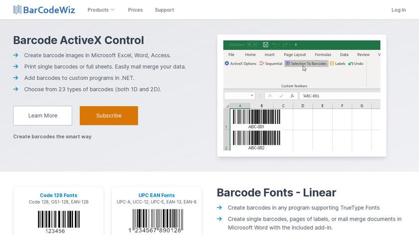 BarCodeWiz OnLabel Landing Page