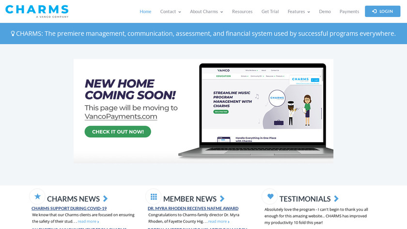 Charms Office Assistant Landing Page