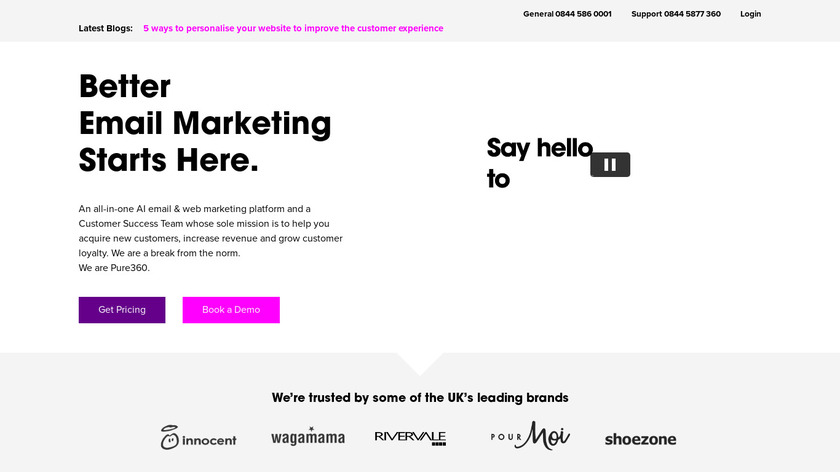 Pure360 Landing Page