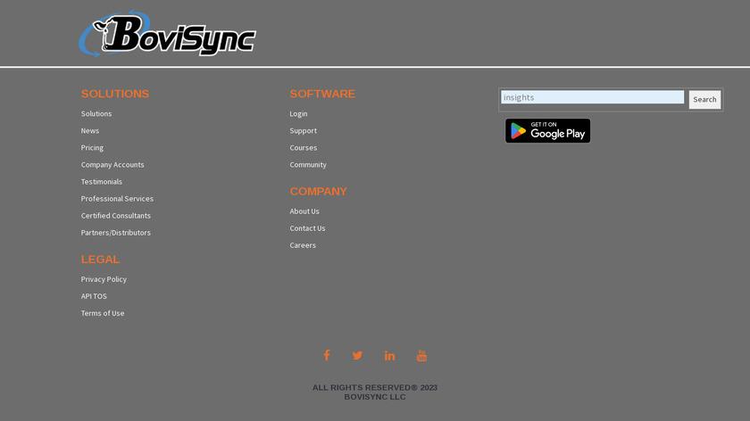BoviSync Landing Page