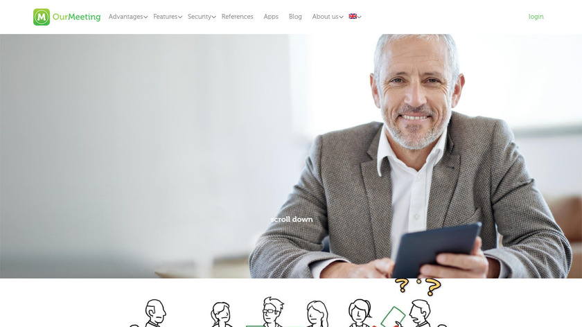 OurMeeting Landing Page