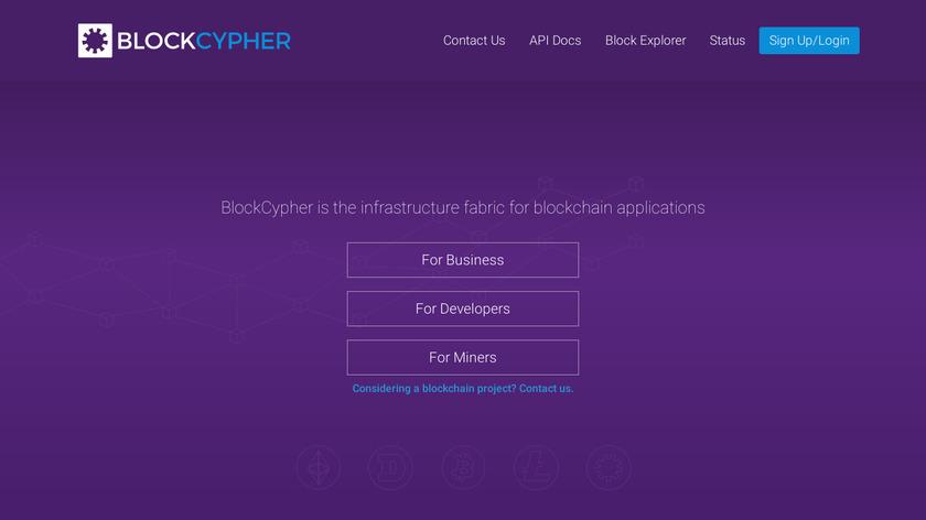 BlockCypher Landing Page