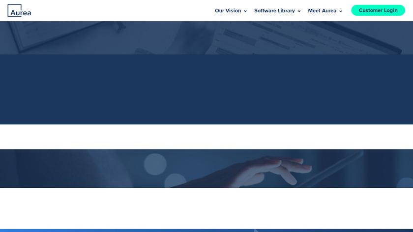 Aurea CRM Landing Page