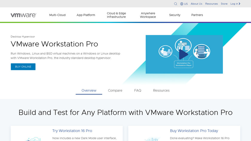 VMware Workstation Landing Page