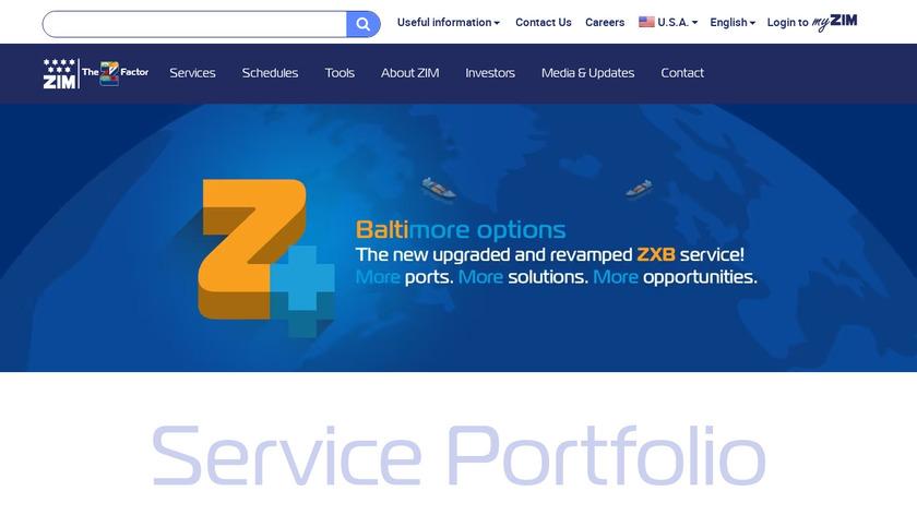 Zim Landing Page