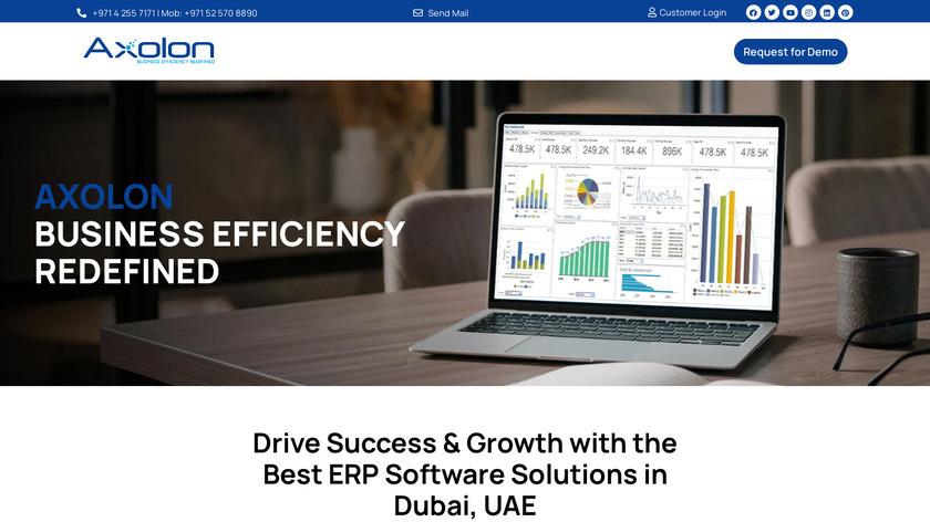 Axolon ERP Landing Page