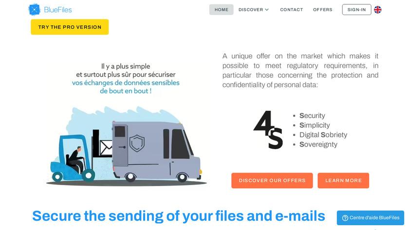 BlueFiles Landing Page