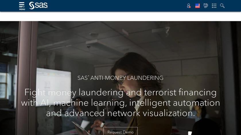 SAS Anti-Money Laundering Landing Page