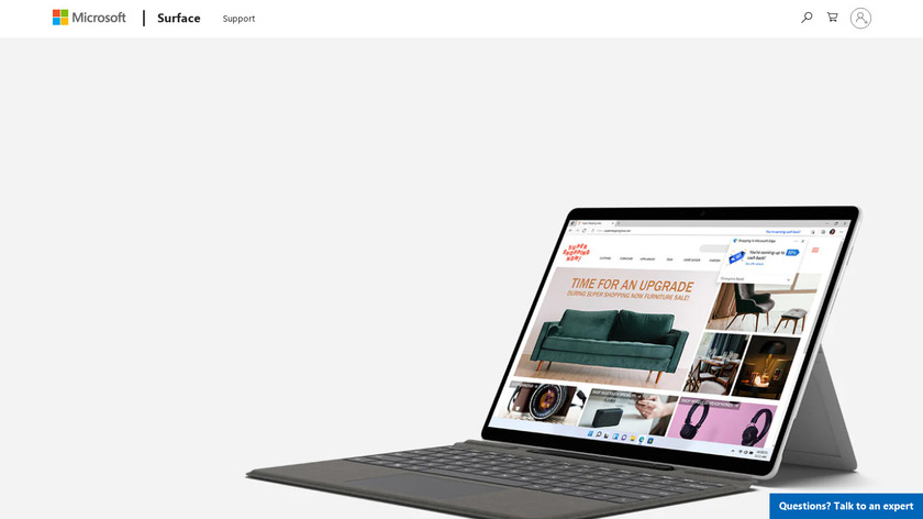 Surface Pro X Landing Page
